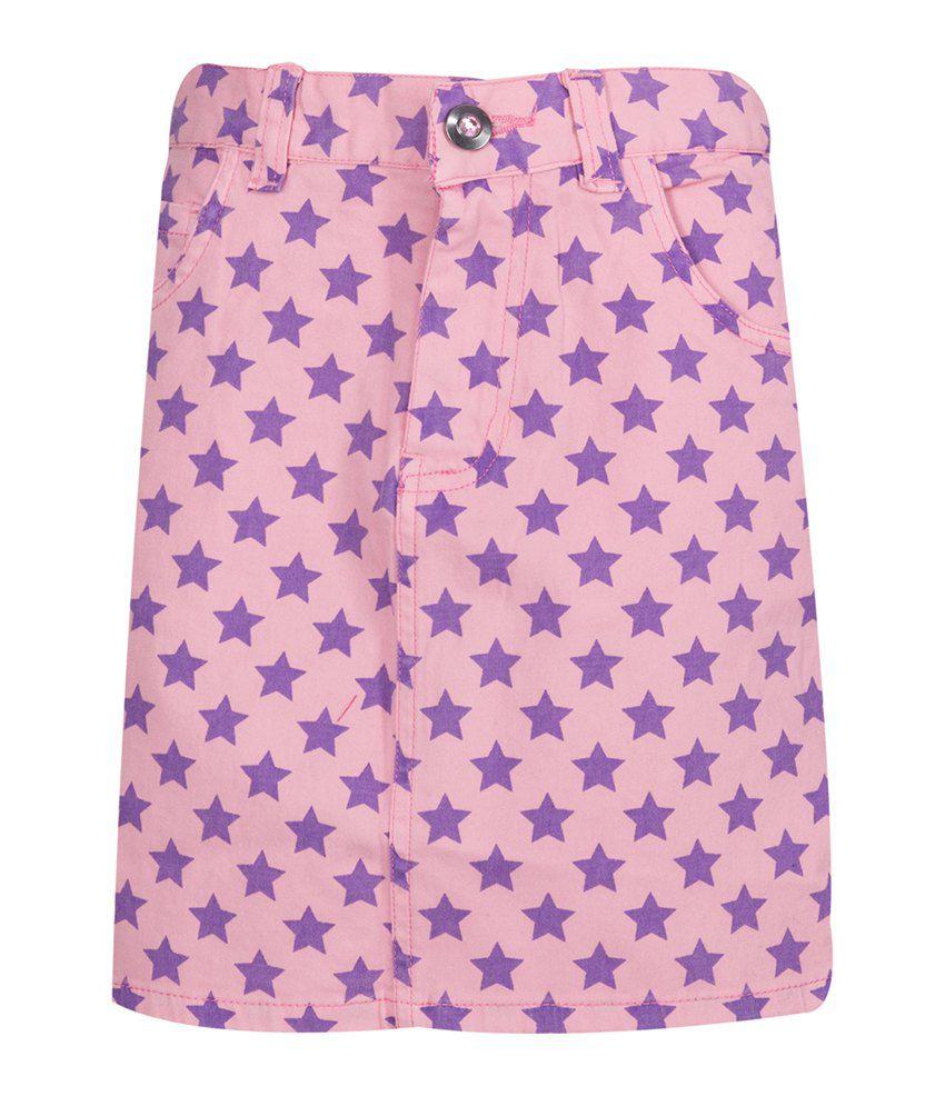 Miss Alibi Purple Cotton Skirt