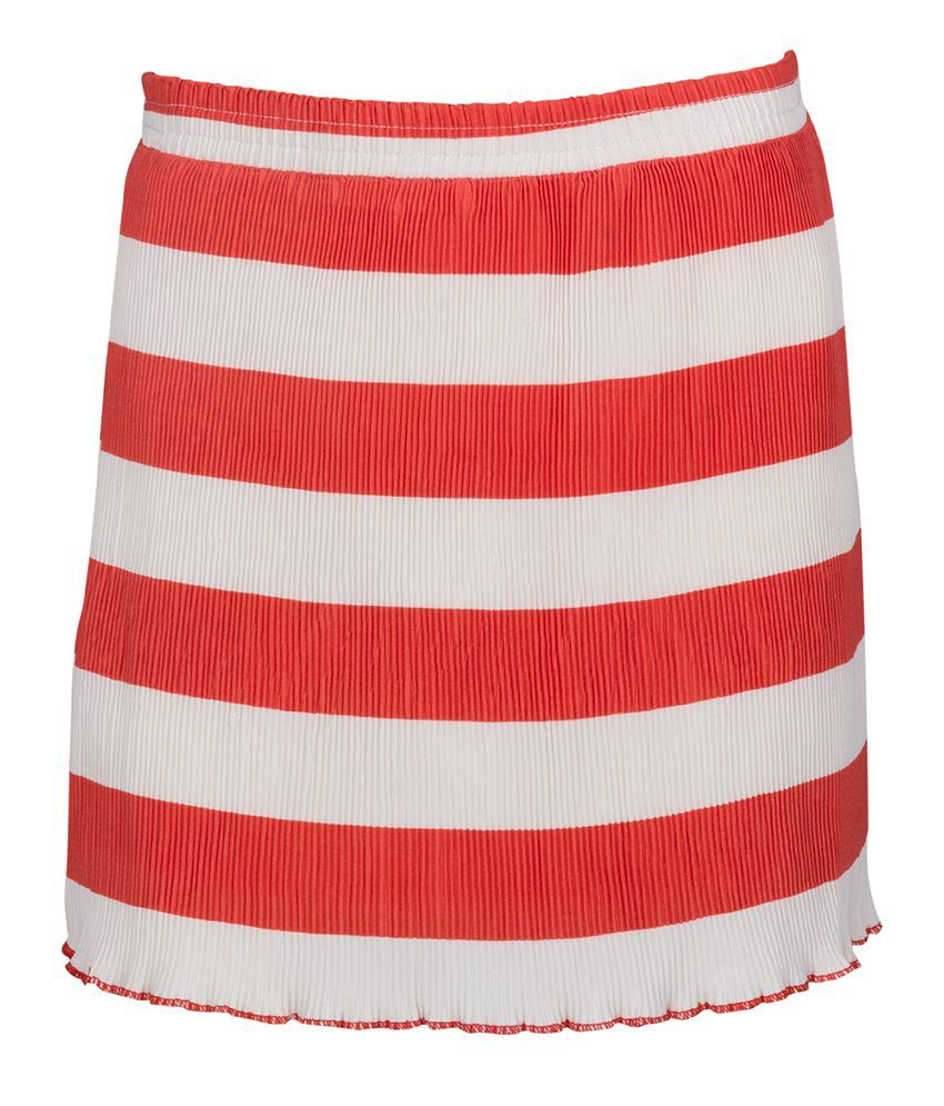 Miss Alibi Red Cotton Skirt