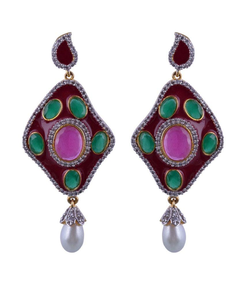 Pooja Textiles Designer Earring