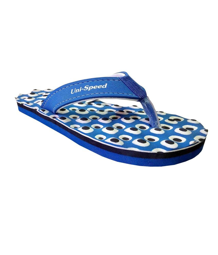 Unispeed Foot Massage + Accupressure Flipflops (Navy)
