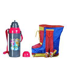 CSM Combo of Shoe Shaped Bag with Water Bottle (700 ml)