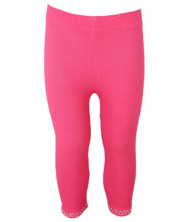 Eight 26 Pink Cotton Capris For Girls