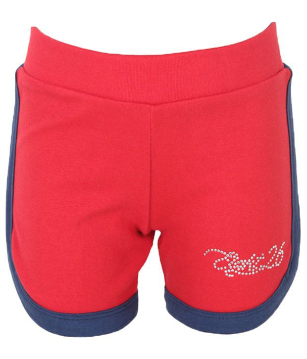 Eight 26 Stylish Red Cotton Shorts For Girls
