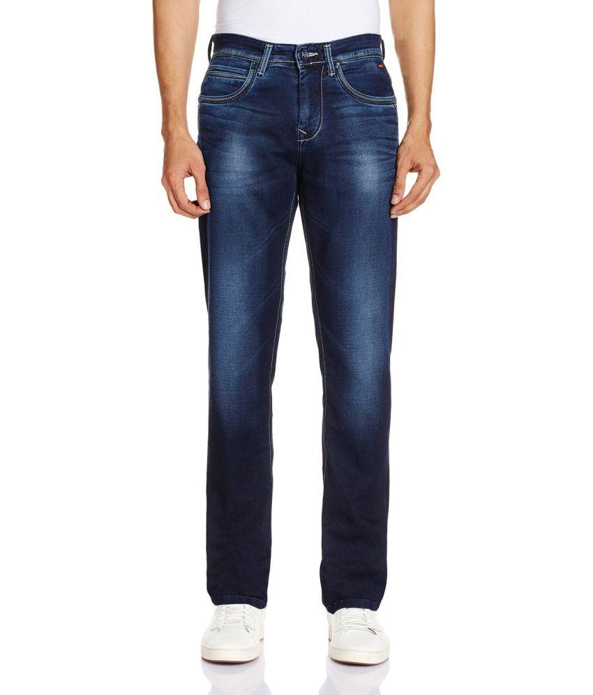 Killer Blue Cotton Jeans For Men