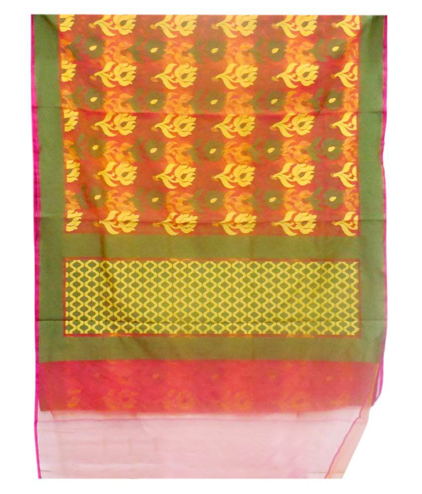 Kohinoor Textiles Multicoloured Art Silk Banarasi Dashing Saree With Blouse Piece