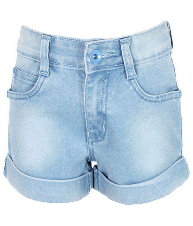 Purple Nasty Nice Blue Denim Shorts For Girls