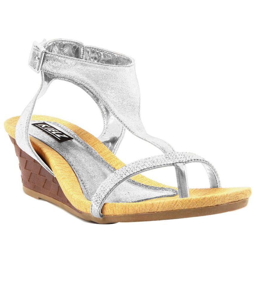 Kielz Sleek Silver Heeled Sandals