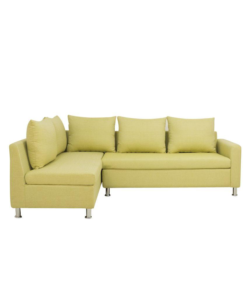 Furniturekraft Orlando Solid Wood L Shaped Sofa Buy