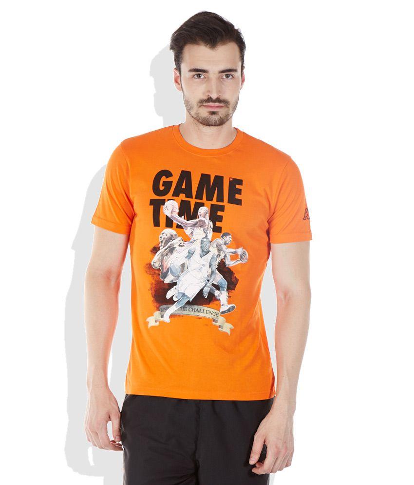 Kappa Orange Round Neck T-Shirt