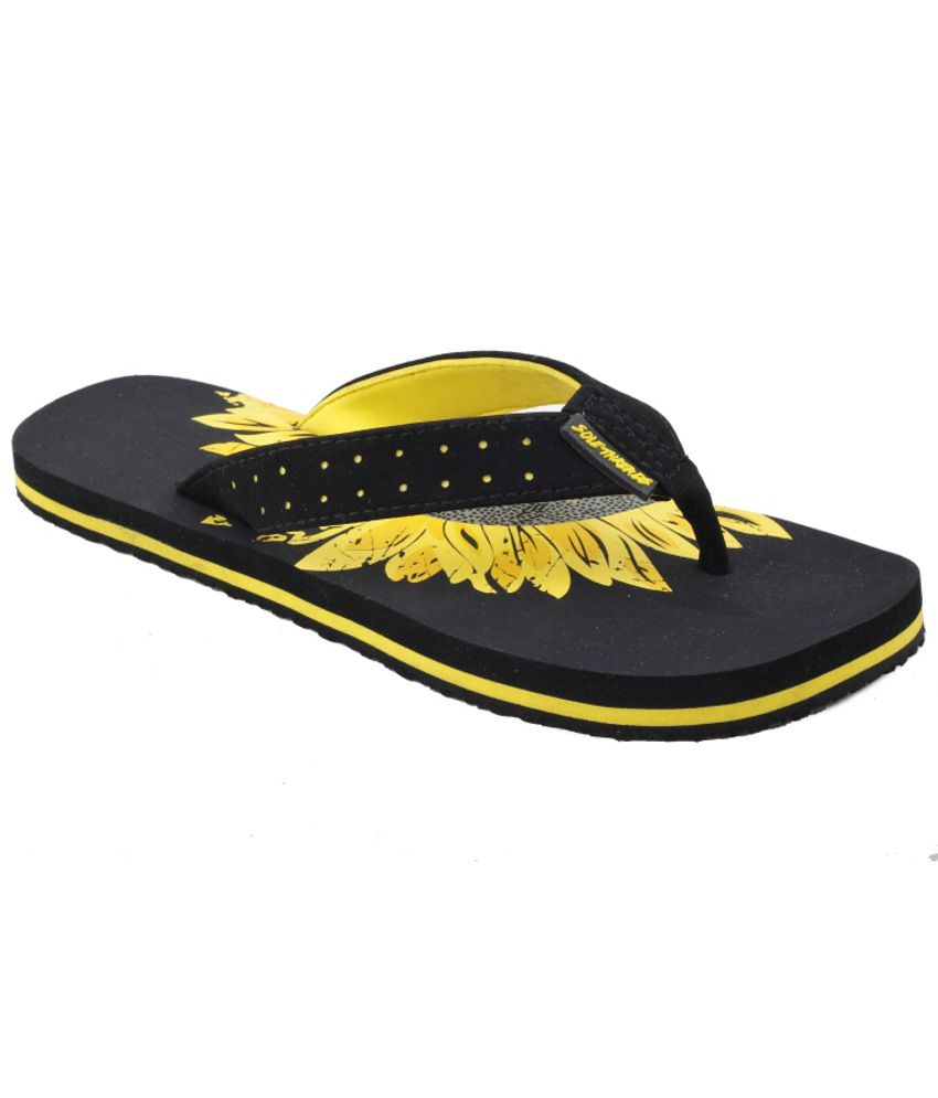 Solethreads Trendy Yellow Slippers