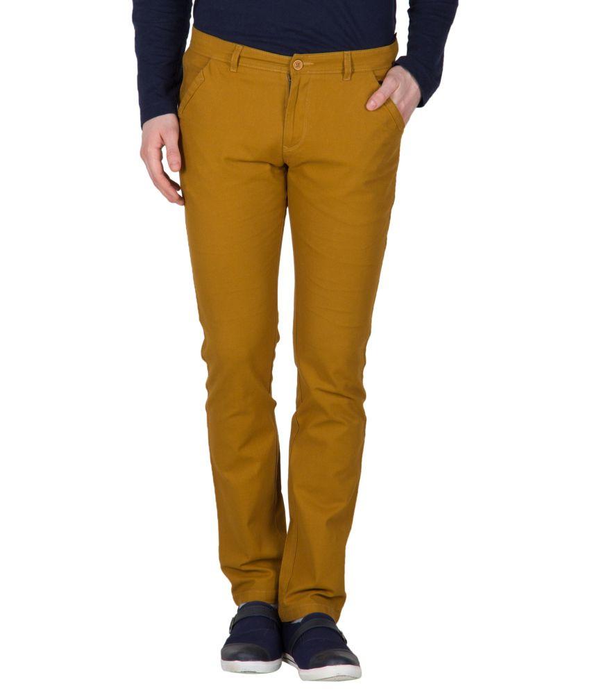 Mustin Brown Regular Fit Trouser