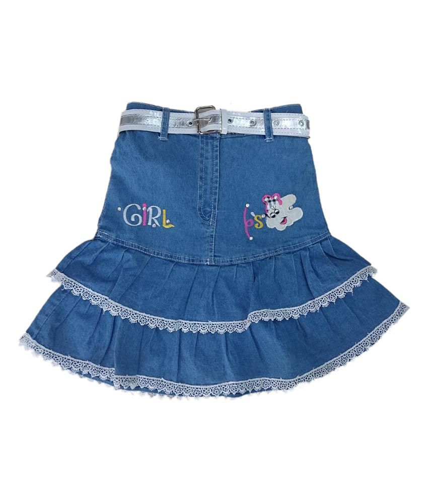 Pink&white Blue Elastic Skirts