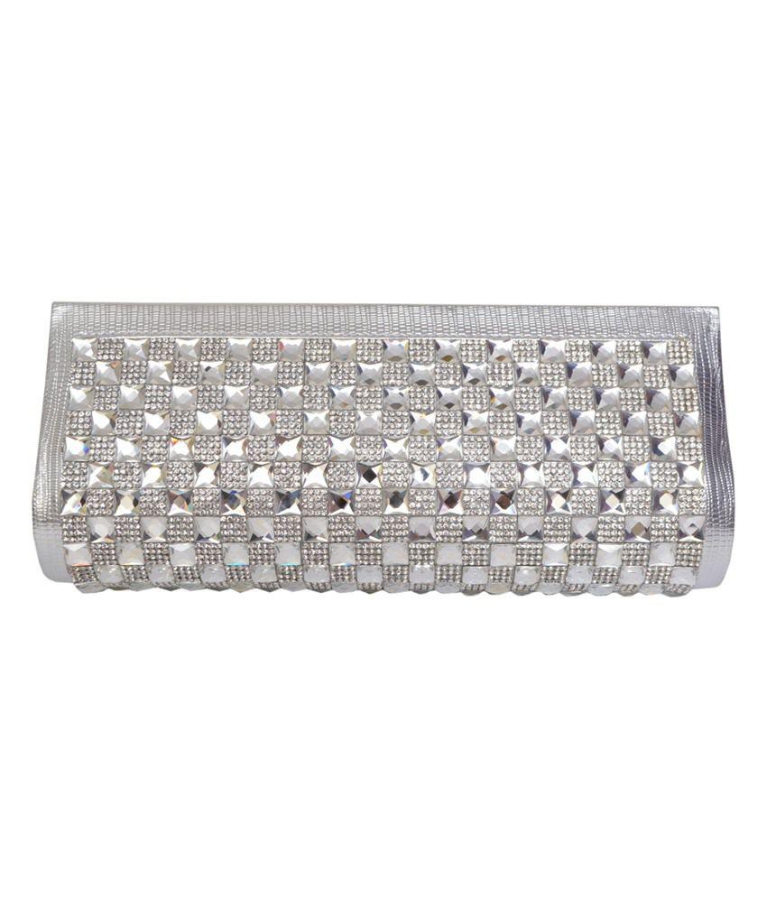 VN Silver Fashionable Clutch