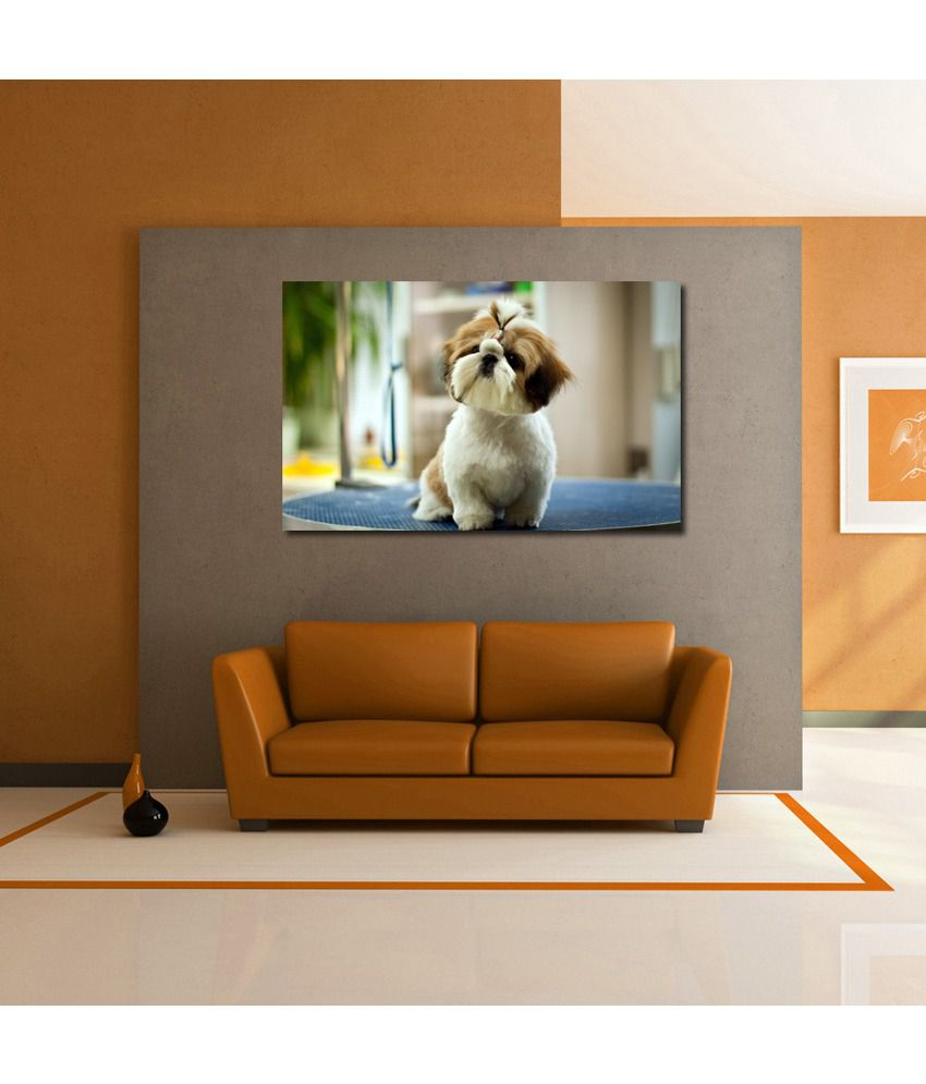 999Store Dog Puppy Printed Modern Wall Art Painting - Large Size