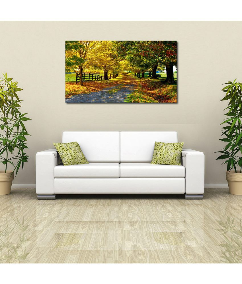 999Store Green Park Printed Modern Wall Art Painting - Large Size