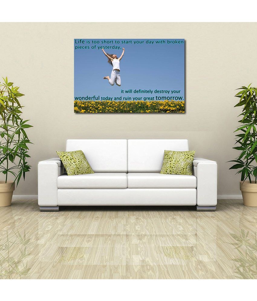 999Store Life Quote Printed Modern Wall Art Painting - Large Size