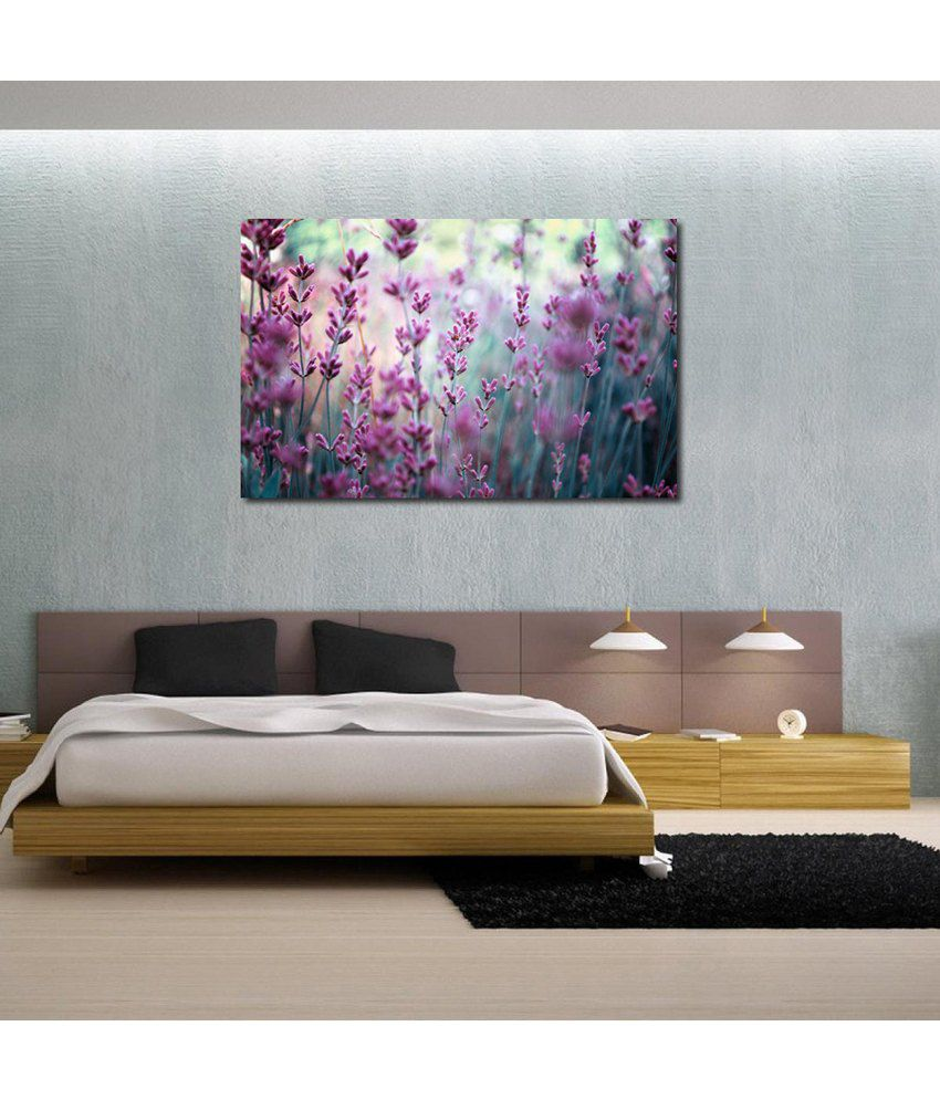 999Store Pink Flowers Printed Modern Wall Art Painting - Large Size
