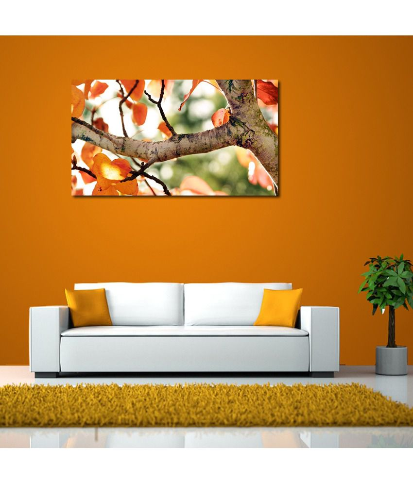 999Store Tree Leaves Printed Modern Wall Art Painting Large Size