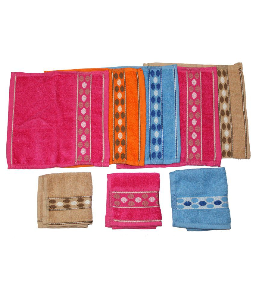 Christys Collection Multicolor Cotton Napkin - 6 Piece Pack