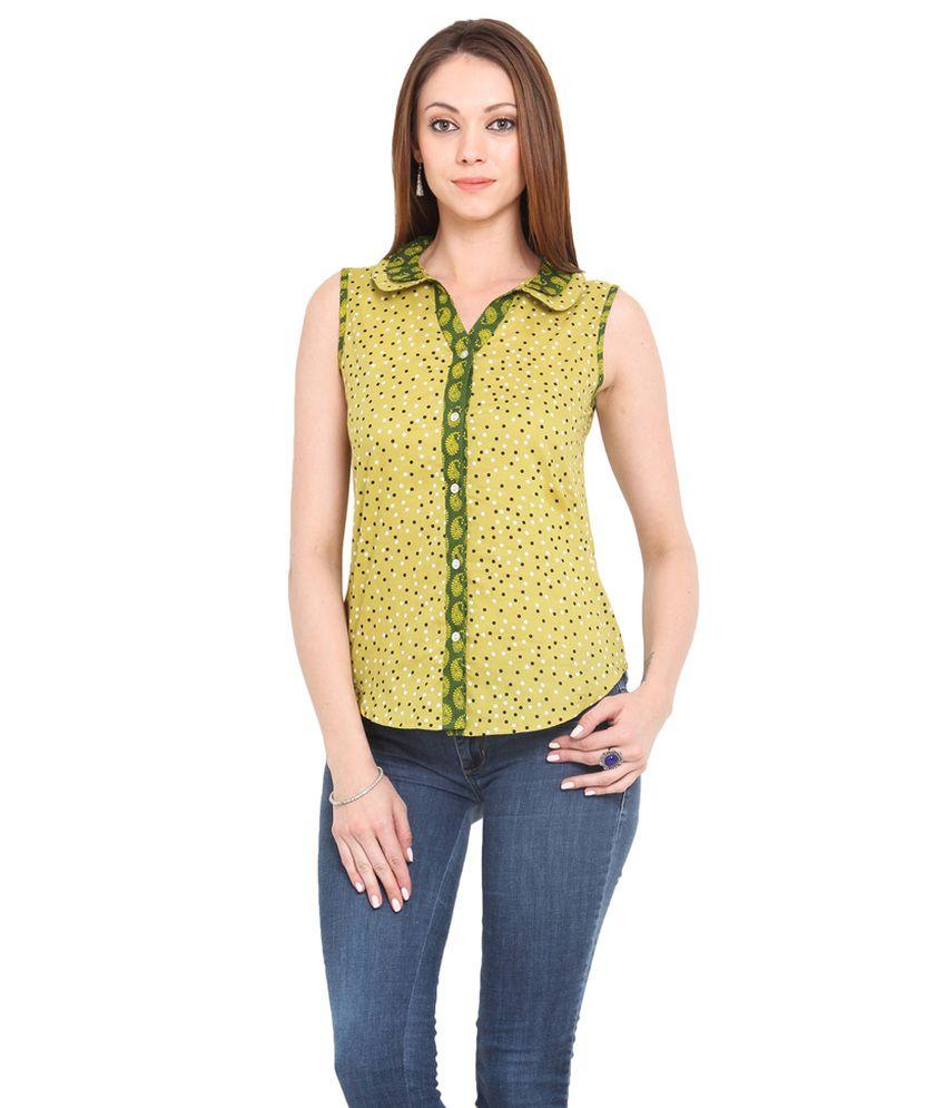 La Arista Green Coloured Cotton Shirt