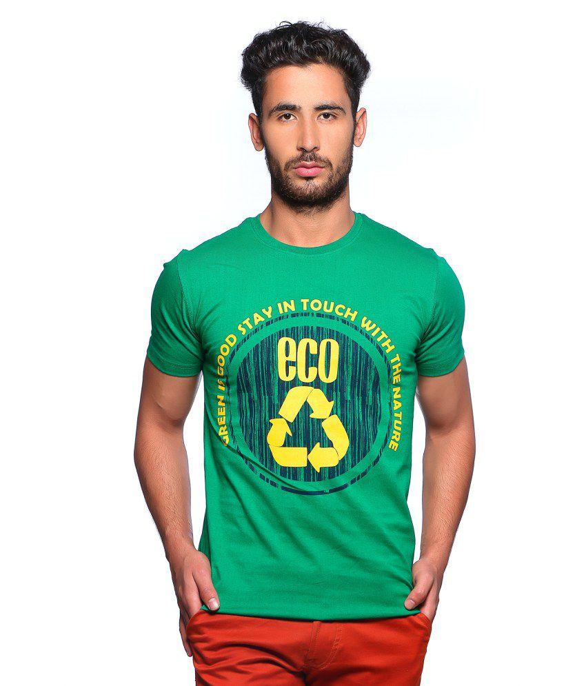 Nucode Half Sleeve Cotton Round Neck T-Shirt