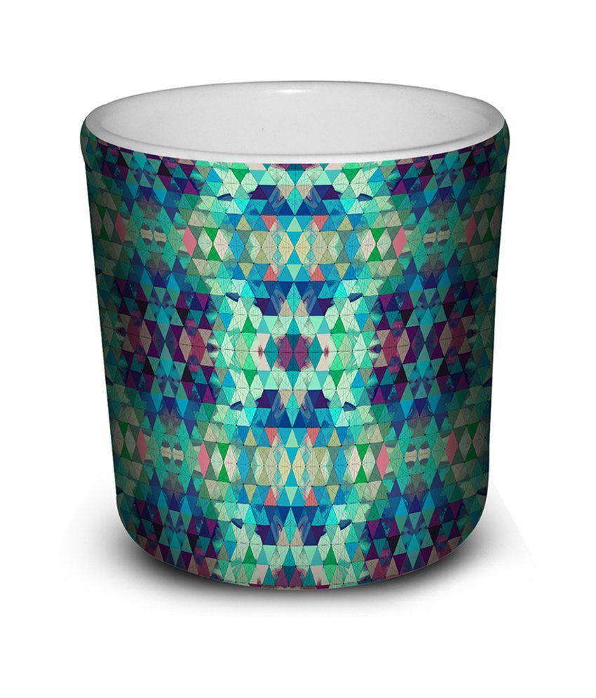 ThinNfat Multicolor Matte Finish Slant Mug