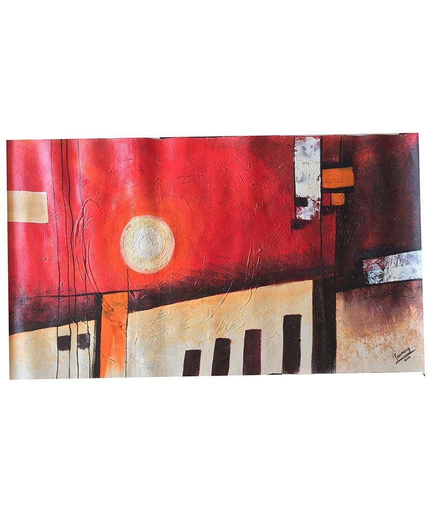 Royal Art Matte Sun City On Canvas Painting