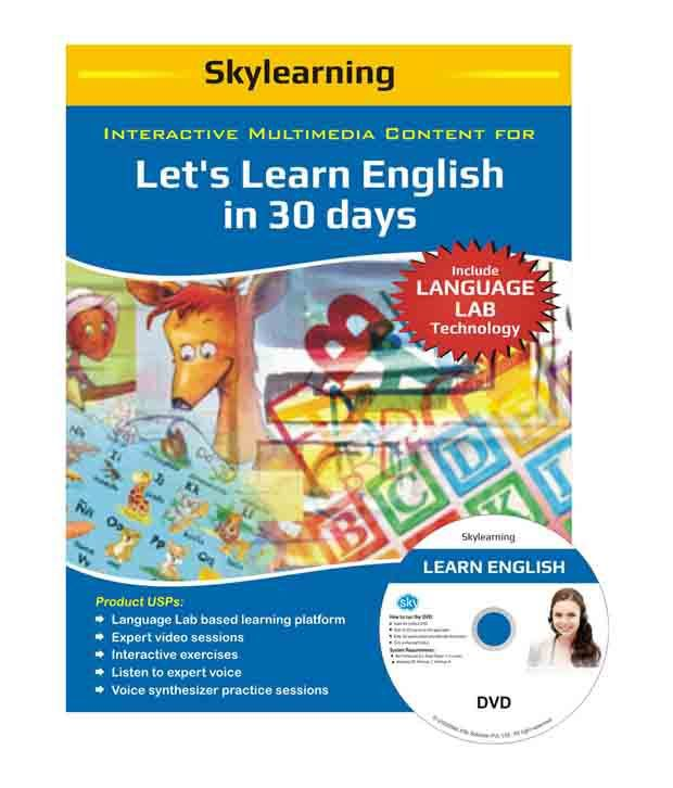 Interactive Multimedia Content For Let's Learn English in 30 days DVDs  Combo Pack by SKYLearning
