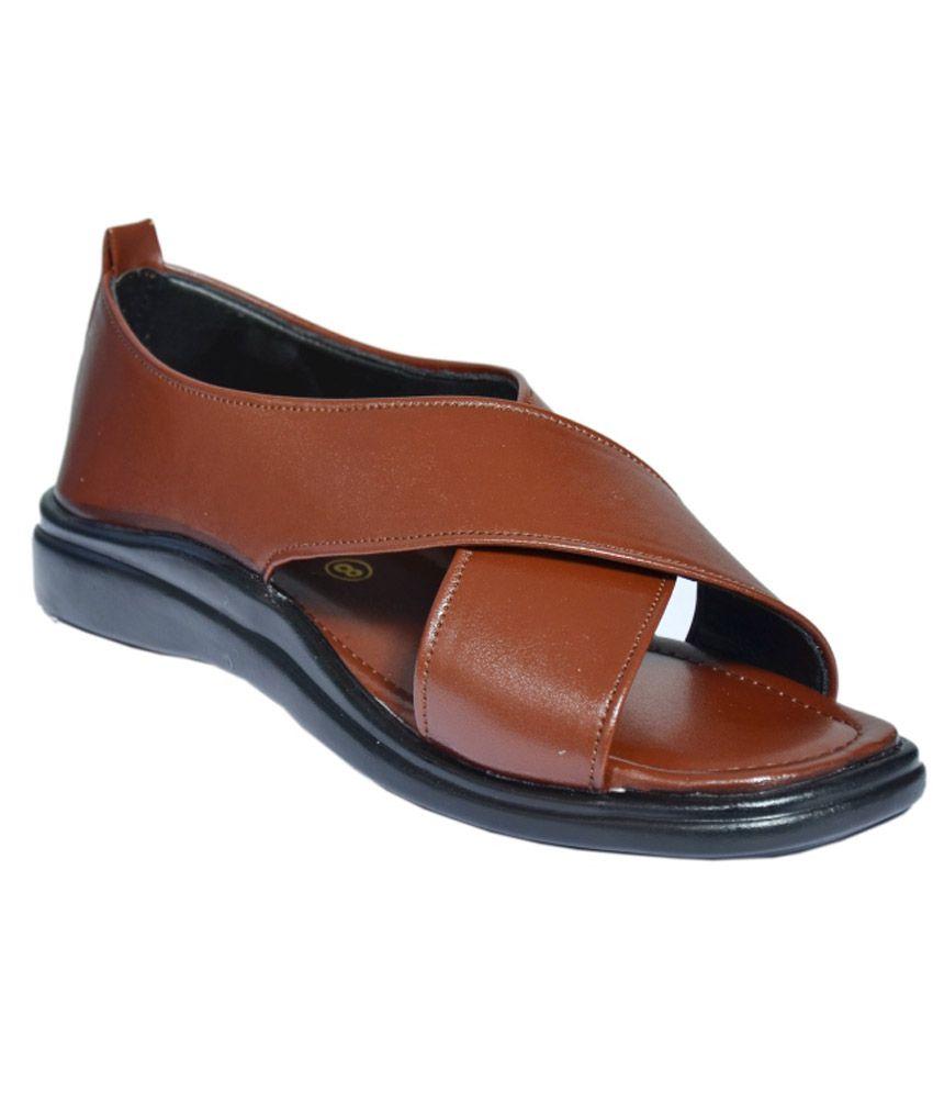 6bfcf625cfcf Mr. Polo Tan Men Sandals Price in India- Buy Mr. Polo Tan Men Sandals Online  at Snapdeal