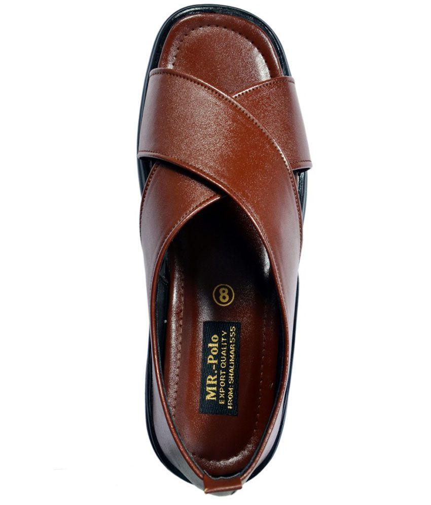 839c218e8417 Mr. Polo Tan Men Sandals Price in India- Buy Mr. Polo Tan Men ...