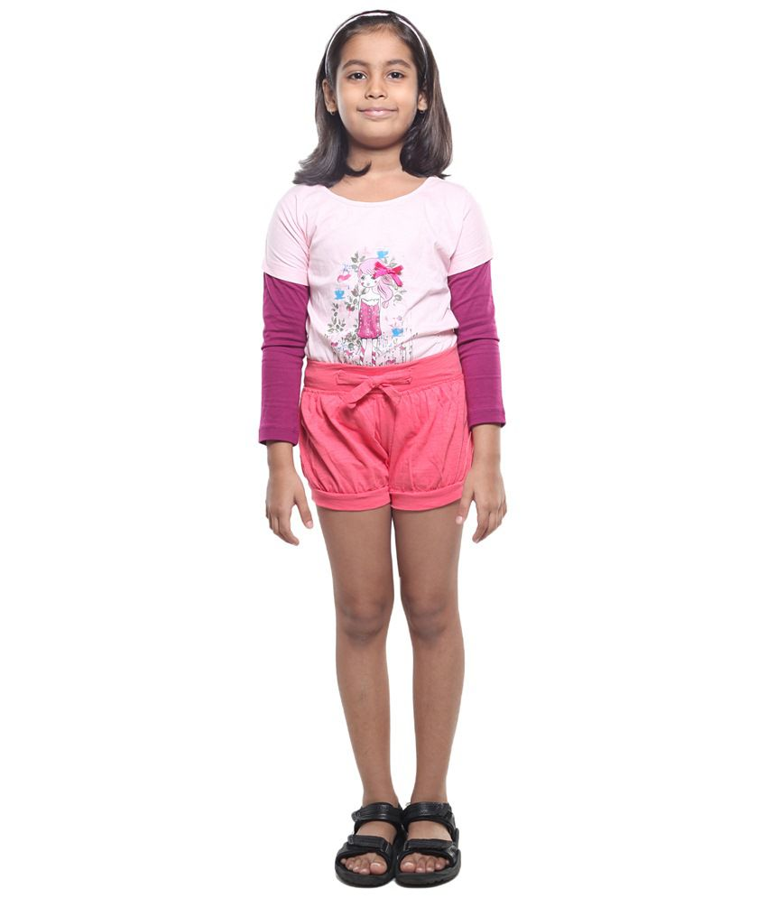 Stop By Shoppers Stop Pink Shorts For Girls