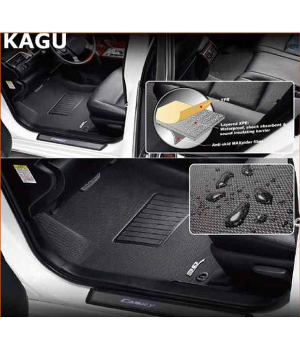3d Kagu Maxpider Car Mats Toyota Innova Fortuner Black