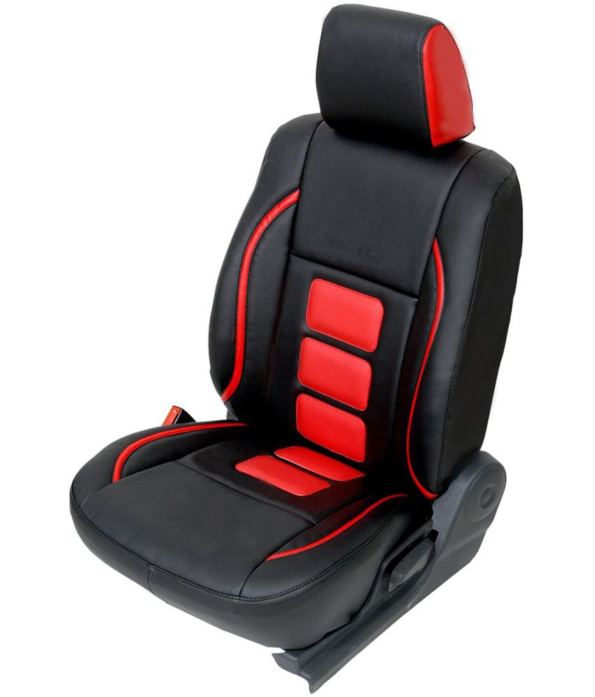 Club Class Black PU Leather Seat Covers For Hyundai Santro