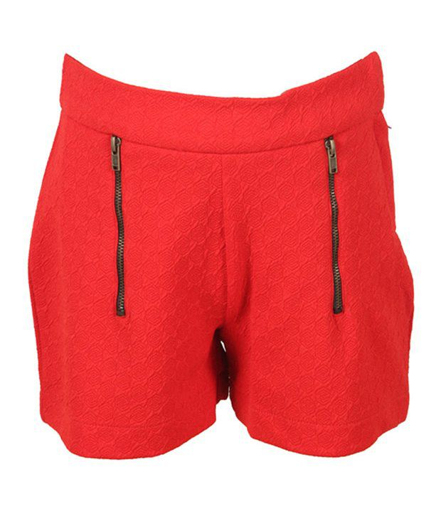 Eight26 Red Cotton Shorts