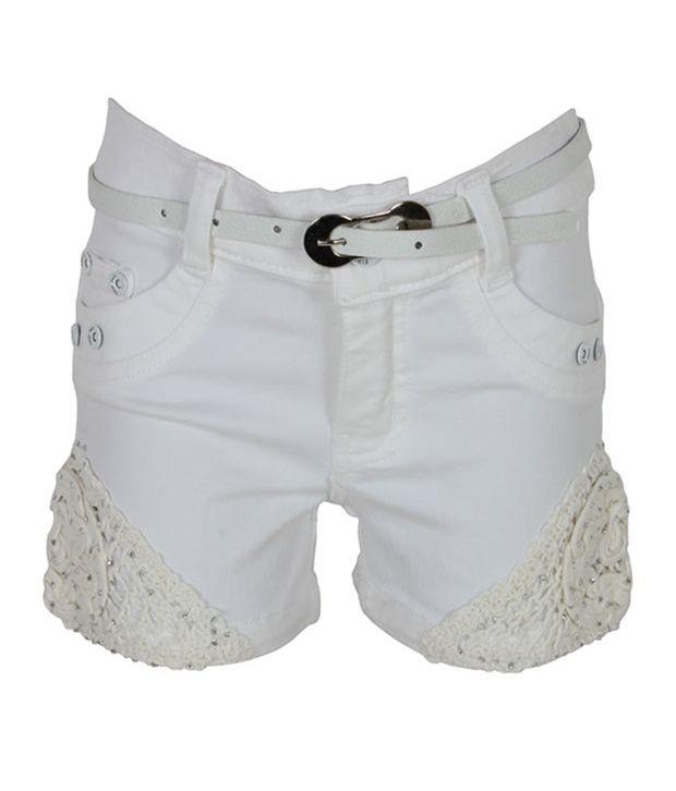 Eight26 White Denim Shorts