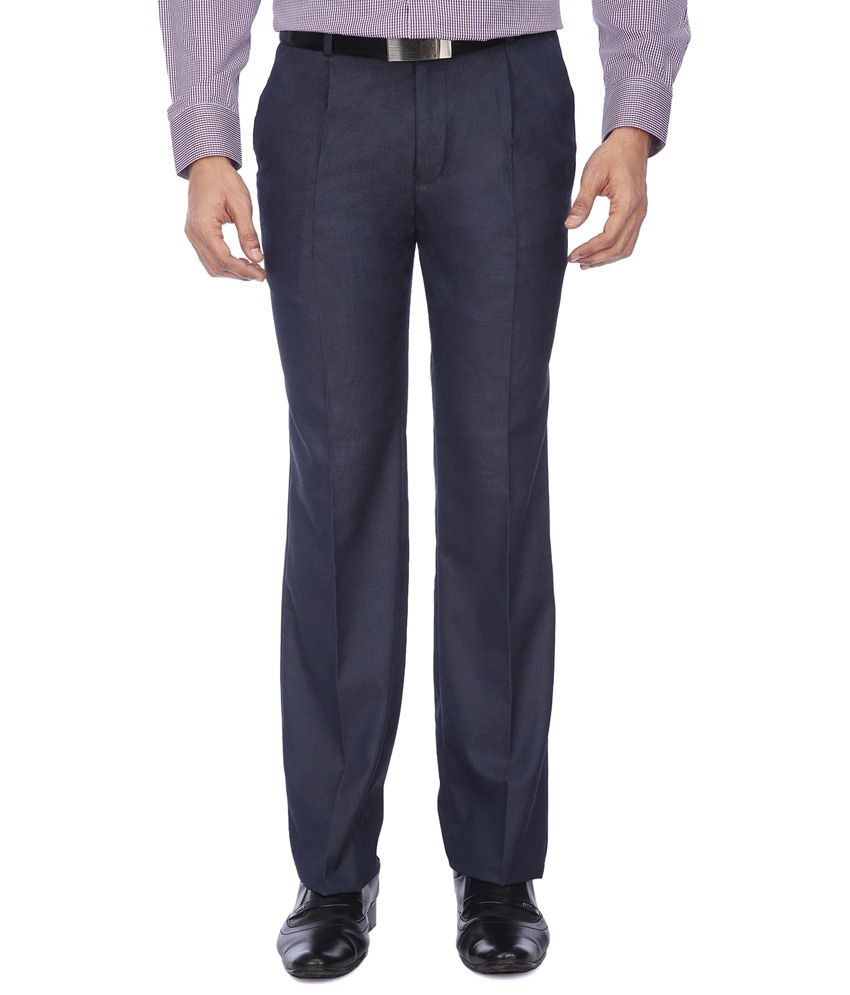 Stop By Shoppers Stop Navy Formal Trousers