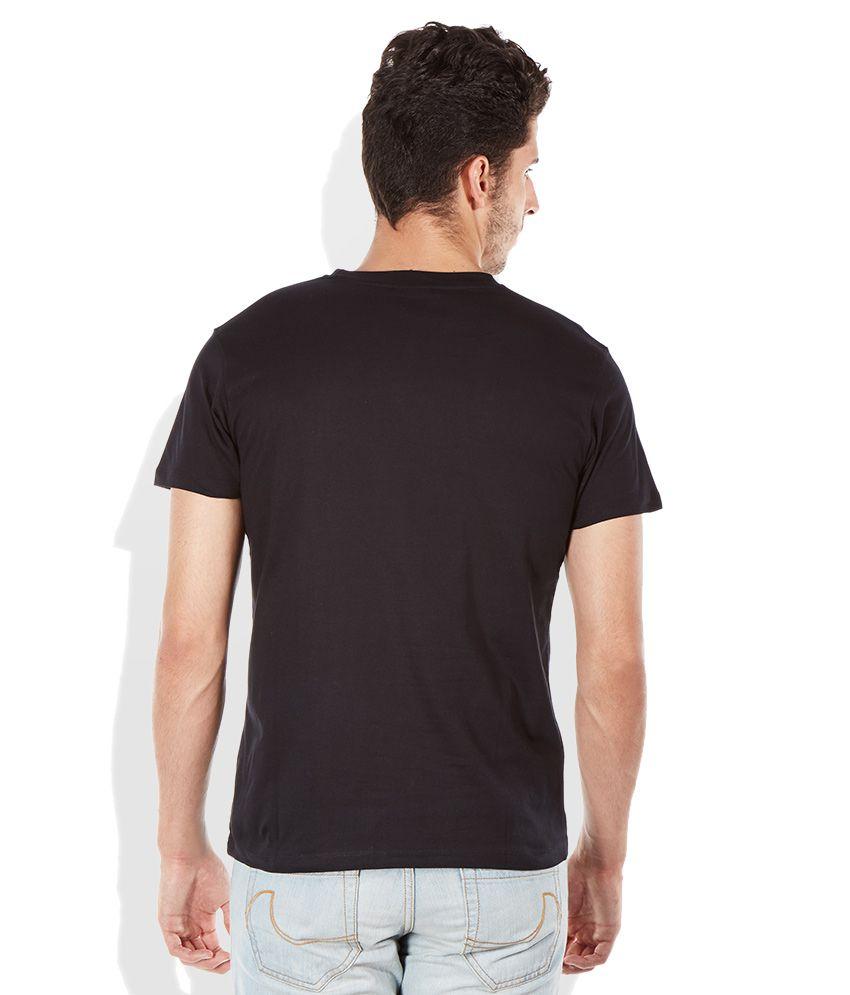 Black t shirt round neck -  Lee Black Round Neck T Shirt