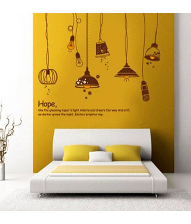 StickersKart Wall Stickers Bedroom Crazy Lamps 7176 (50x70 Cms) ...