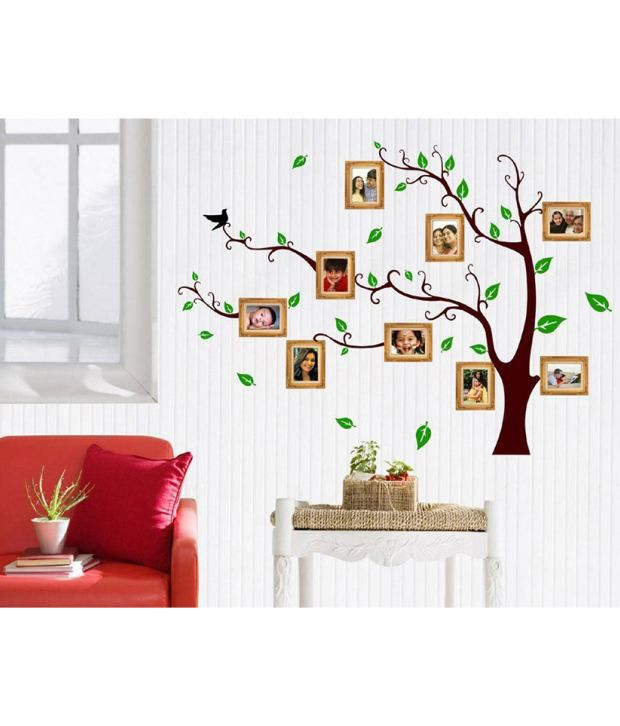 StickersKart Wall Stickers Living Room Family Photo Tree  Buy - Wall decals india