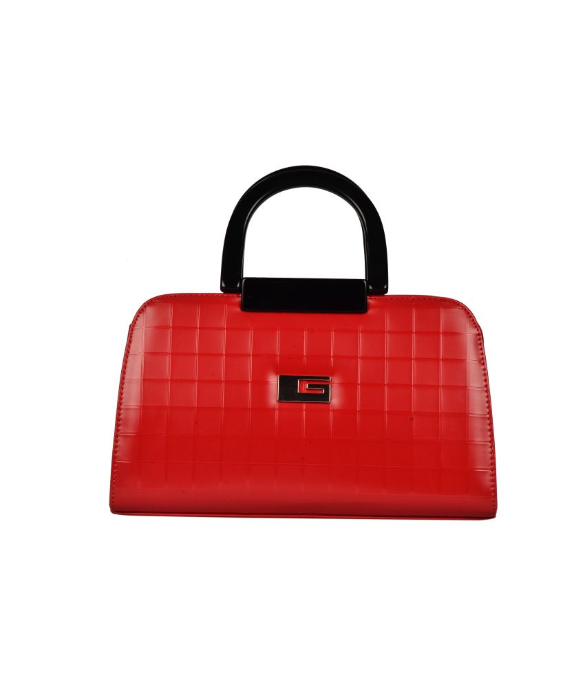 BH Wholesale Market Designer, Imported & Fashionable PU Leather Shoulder & Hand Bag For Women (Red)