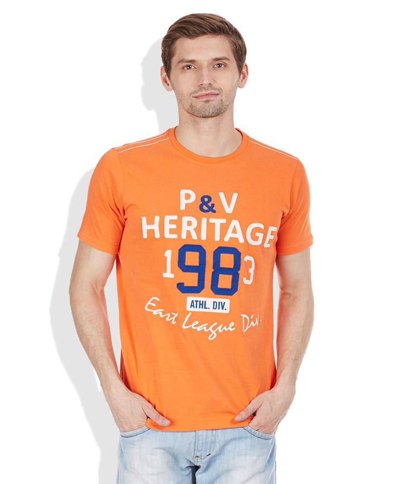 Proline Orange Round Neck