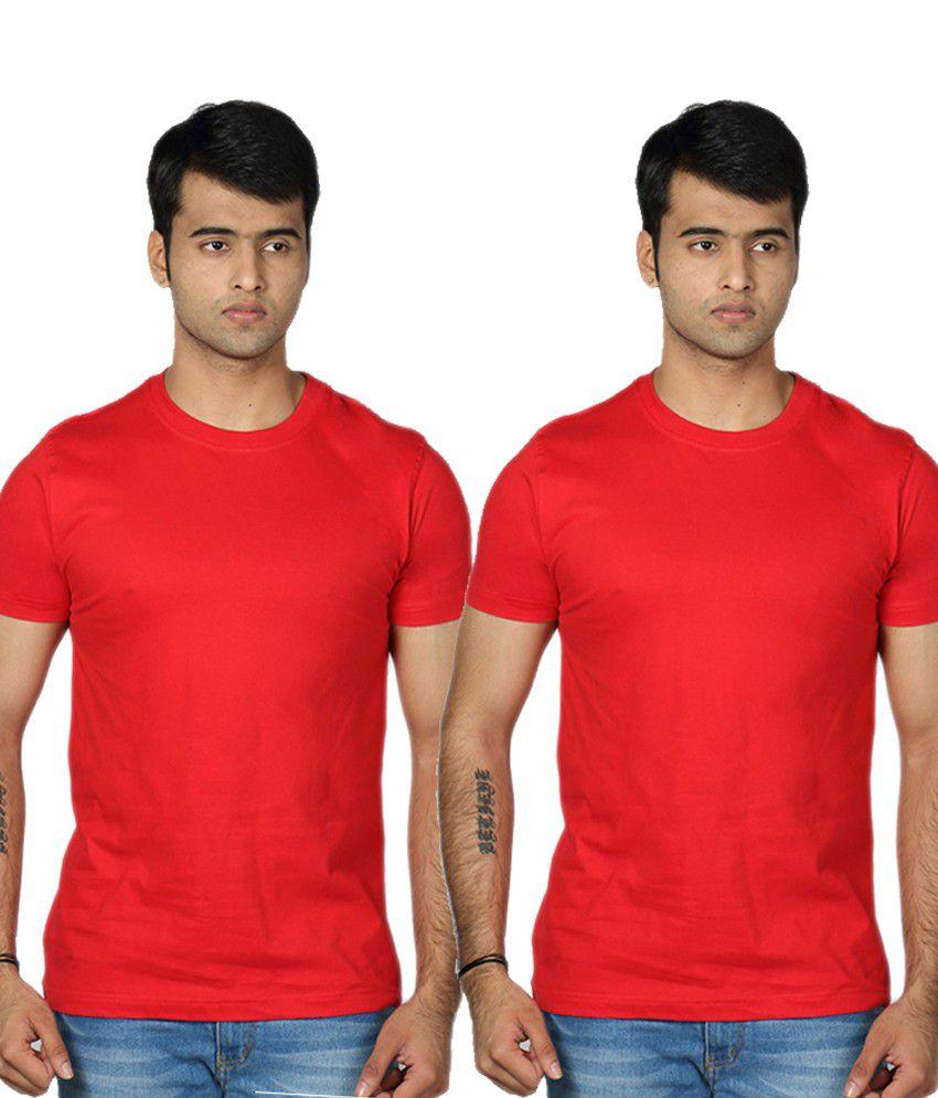 Rakshita's Collection Men Round Neck T Shirt Set Of 2