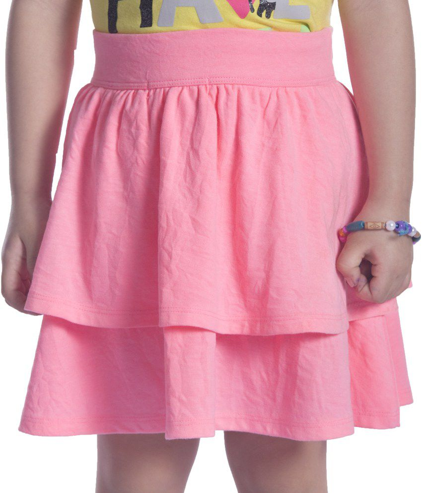 Sera Pink Cotton Elastic Skirts