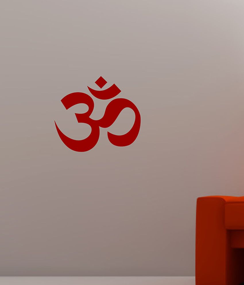 buy veldeco red om wallpaper online at low price in india - snapdeal