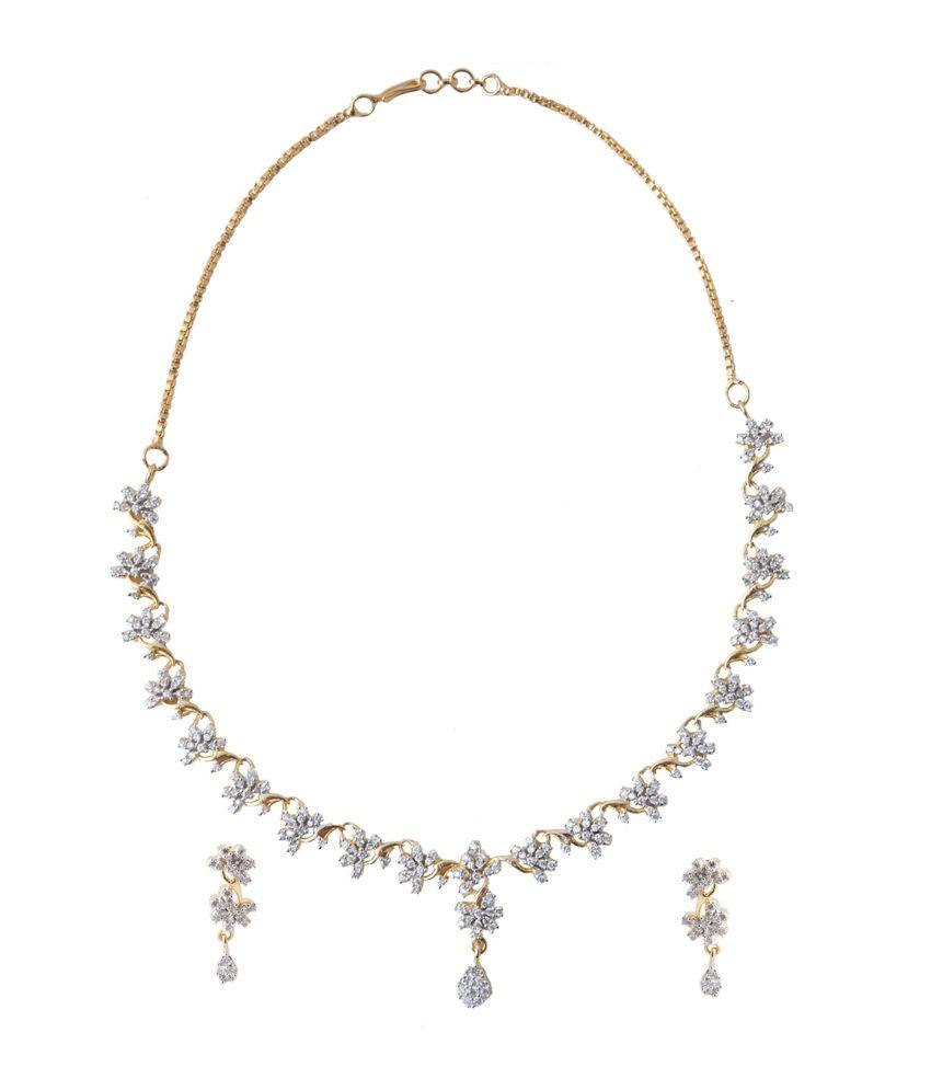Xquisite Silver Alloy Necklace Set