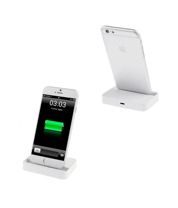ygs 8 pin charging docking station for apple iphone 5s white chargers online at low prices. Black Bedroom Furniture Sets. Home Design Ideas