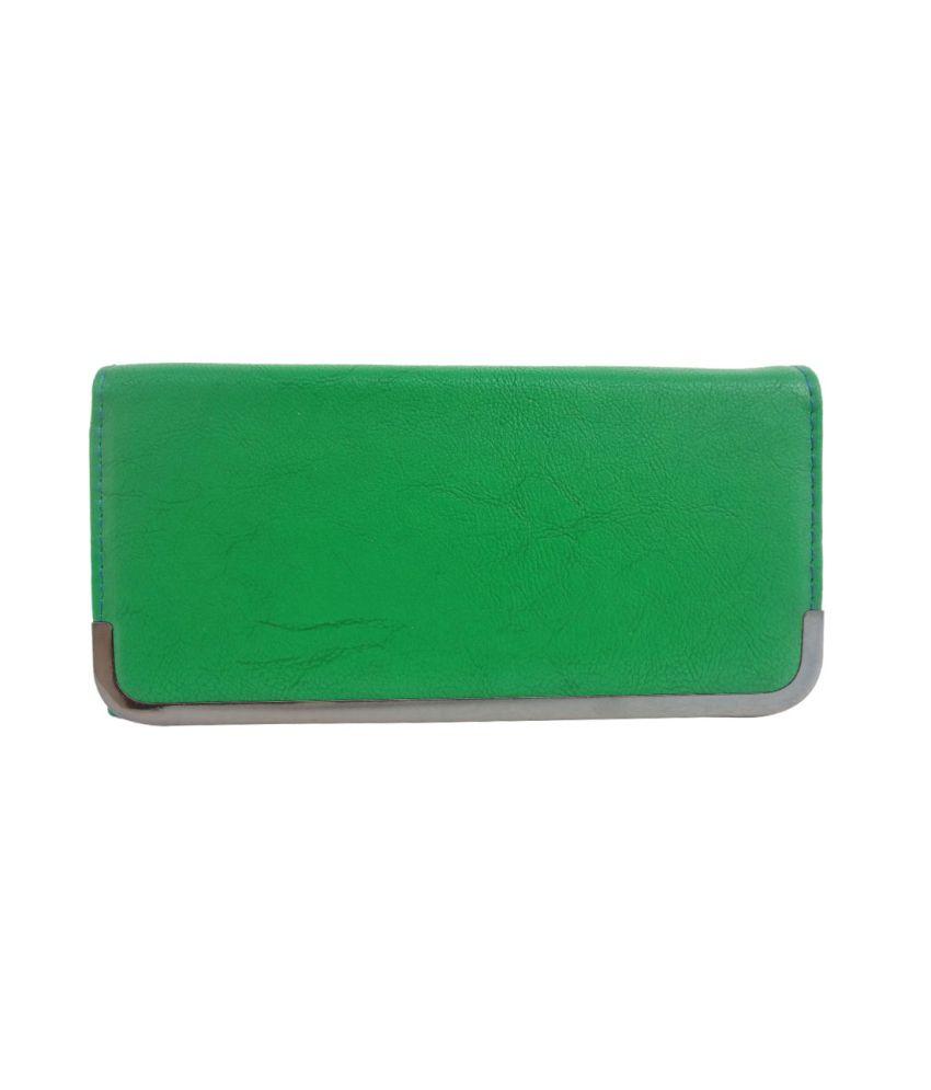 FnF Stylish Green Flip Lock Designed Women Wallet