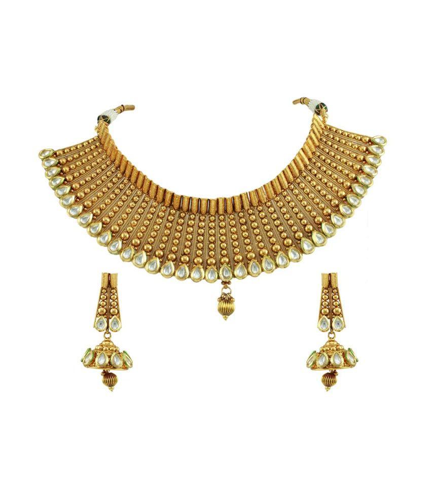 Orniza Designer Vilandi Kundan Choker Necklace Set