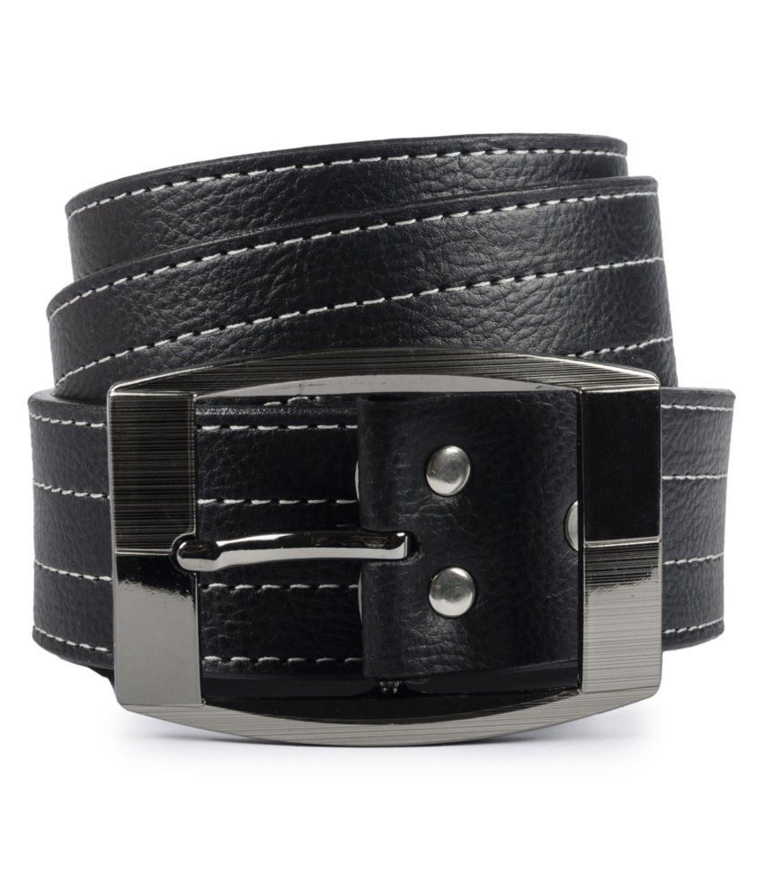 Tsx Black Pin Buckle Non Leather Belt