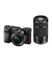 Sony Alpha ILCE-6000Y DSLR Camera with SELP1650 & SEL55210 Lens